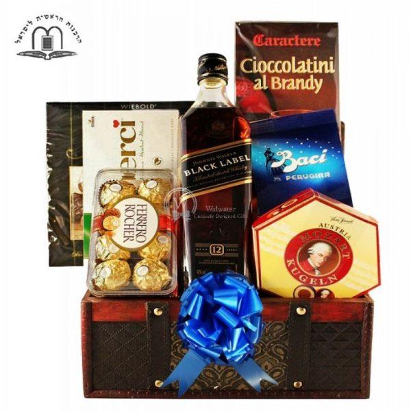 Black Johnnie Walker - Whiskey Gift Basket To Israel