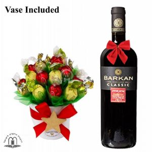 Classic Christmas Sweet Bouquet With Red Wine To Israel