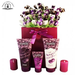 Deep Purple With Spa – Sweet Bouquet Israel