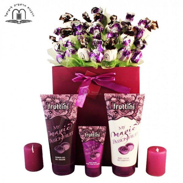 Deep Purple With Spa - Sweet Bouquet Israel