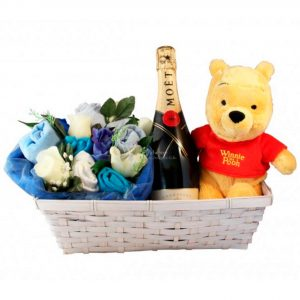 Dizzying Surprise Baby Boy Gift Basket
