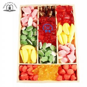 Jelly Surprise Wooden Gift Basket Israel