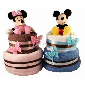 Minnie and Mickey – Twins Diaper Nappy Cake
