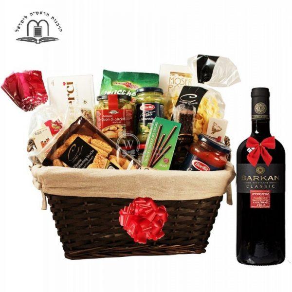 Perfecto D Italia – Red Wine Gift Basket Israel