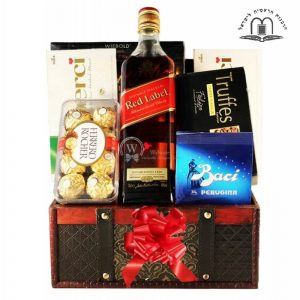 Red Johnnie Walker Gift Basket Israel