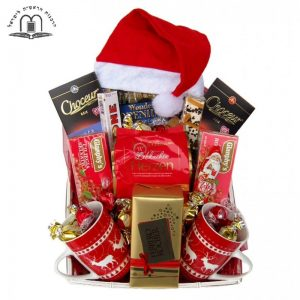 Santa Christmas Tea Gift Basket Israel