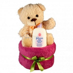 Teddy Diaper Nappy Cake For Girl