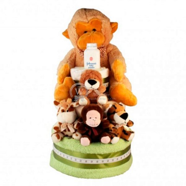 Zoo Diaper Nappy Cake XXL (1)